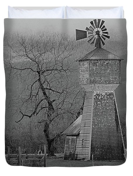 Windmill Of Old Duvet Cover