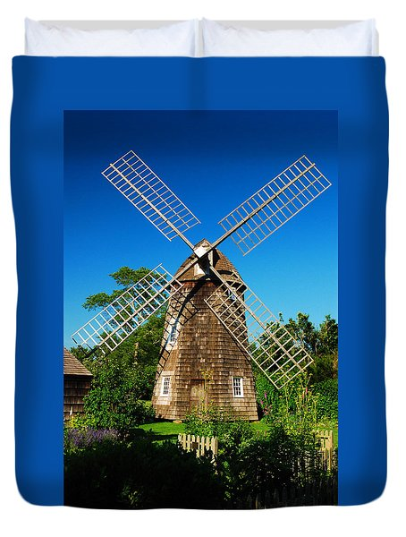 Duvet Cover featuring the photograph Windmill Of The Garden by James Kirkikis