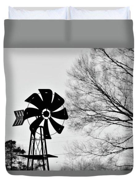 Windmill On The Farm Duvet Cover