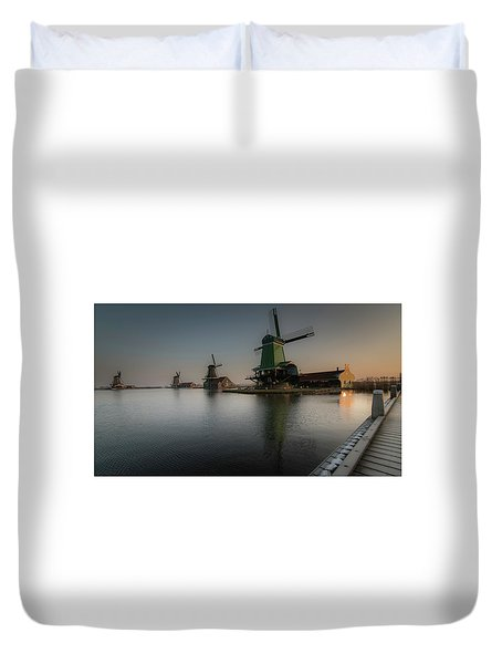 Windmill Sunrise Duvet Cover