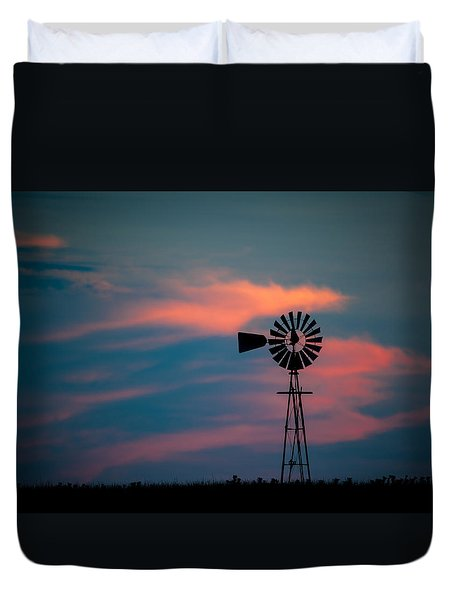 Windmill Sunset Duvet Cover