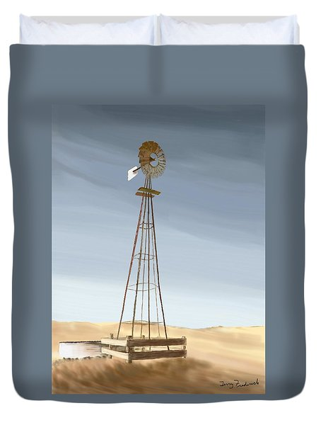 Windmill Duvet Cover by Terry Frederick
