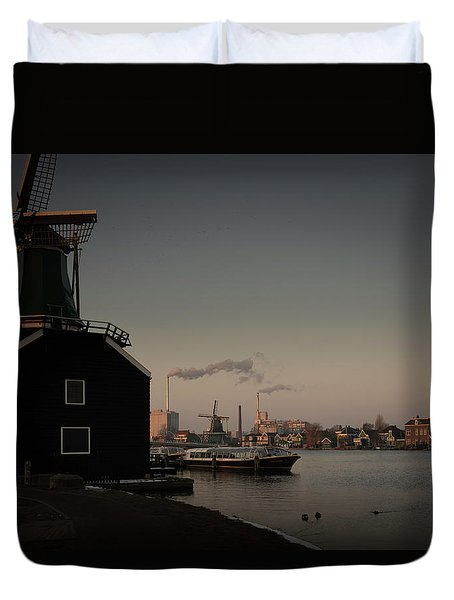 Windmill Town Duvet Cover
