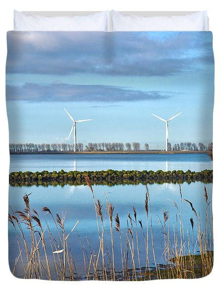 Windmills On A Windless Morning Duvet Cover