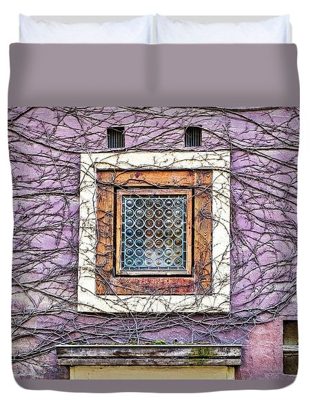 Window And Vines - Prague Duvet Cover
