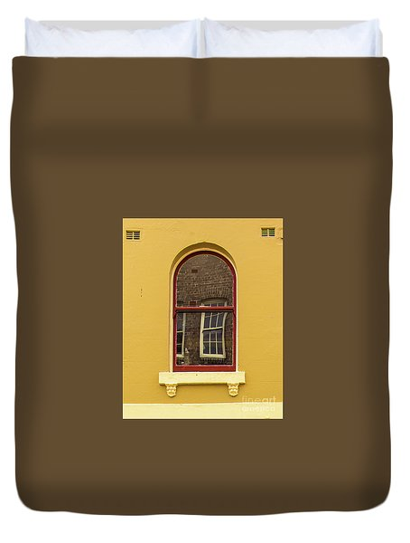 Duvet Cover featuring the photograph Window And Window 2 by Perry Webster