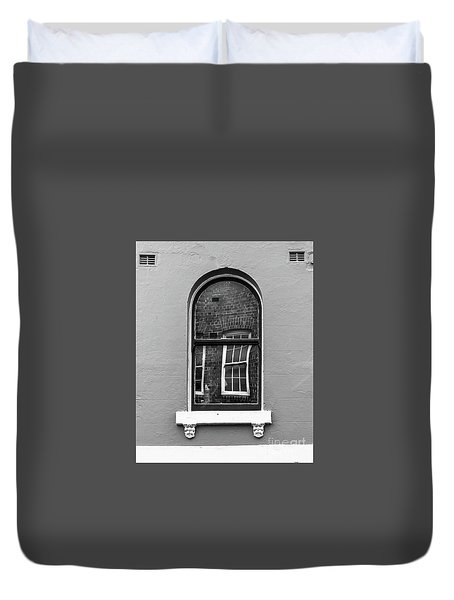 Duvet Cover featuring the photograph Window And Window by Perry Webster