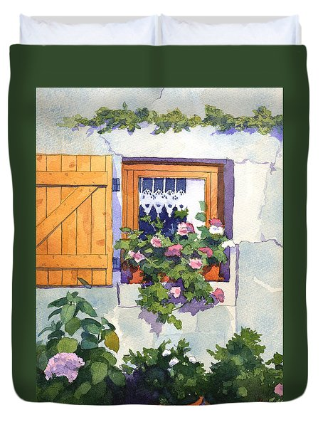 Window At St Saturnin Duvet Cover