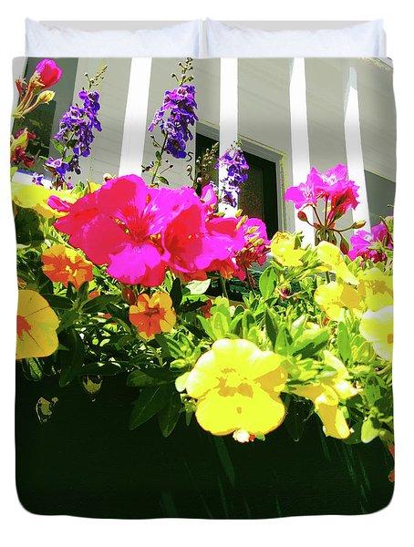Window Box Duvet Cover by Susan Lafleur