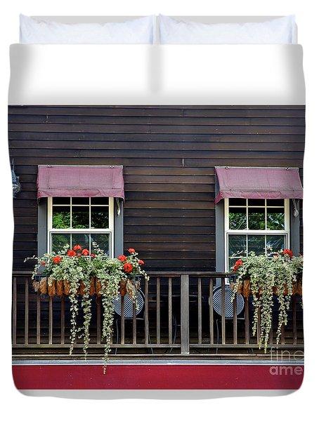 Window Boxes Duvet Cover by Jim Gillen