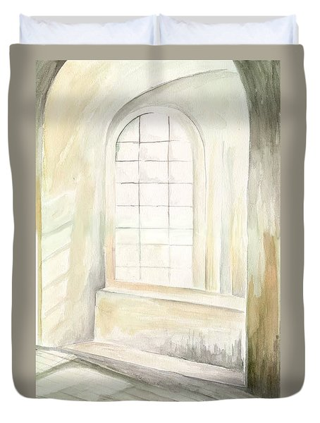 Duvet Cover featuring the painting Window by Darren Cannell