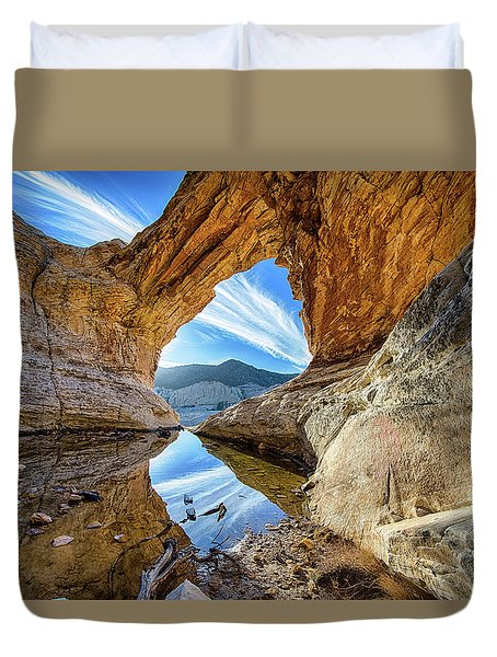 Window In The Sky Duvet Cover