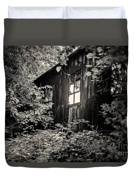 Duvet Cover featuring the photograph Window In The Woods by Randall  Cogle