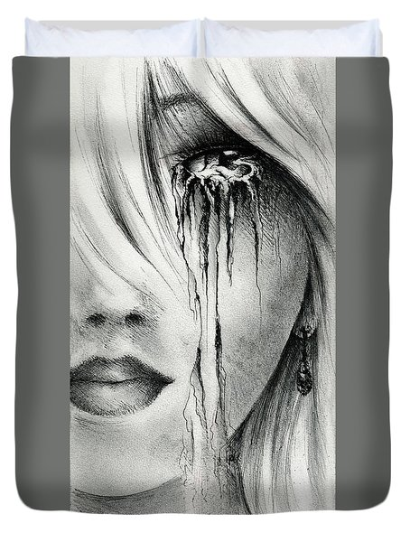 Window Of The Soul Duvet Cover by Rachel Christine Nowicki