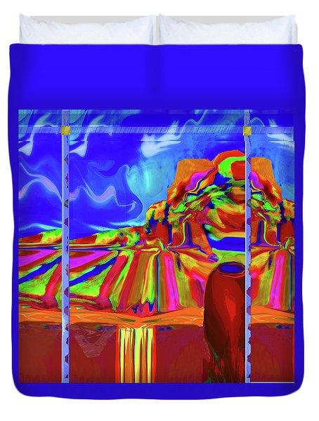 Window On Santa Fe Duvet Cover
