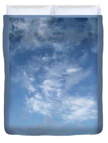 Duvet Cover featuring the photograph Window On The Sky In Israel During The Winter by Yoel Koskas
