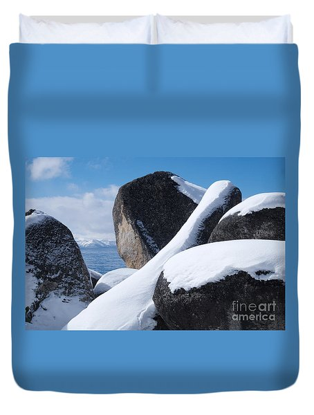 Duvet Cover featuring the photograph Window On Tahoe by Vinnie Oakes