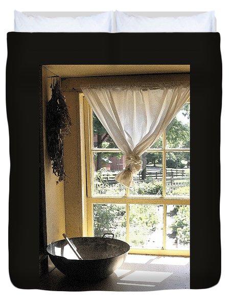 Window On Yesterday Duvet Cover