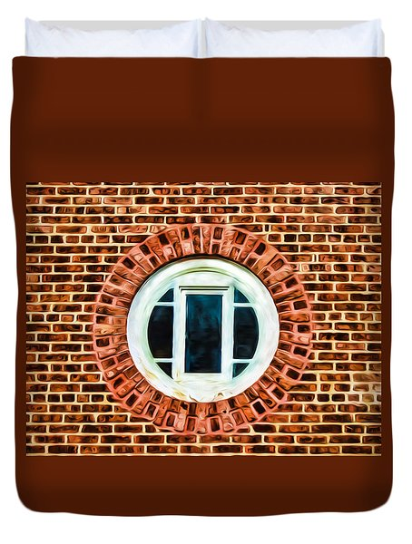 Duvet Cover featuring the photograph Window Shapes In And Around by Gary Slawsky