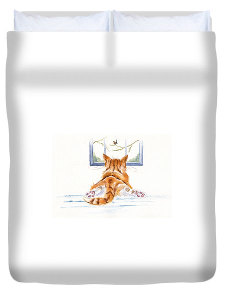 Window Shopping Duvet Cover