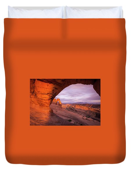 Window To Arch Duvet Cover