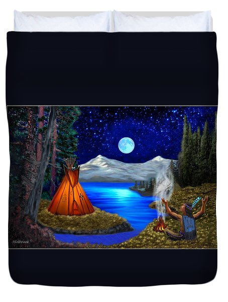 Window To Heaven Duvet Cover by Glenn Holbrook