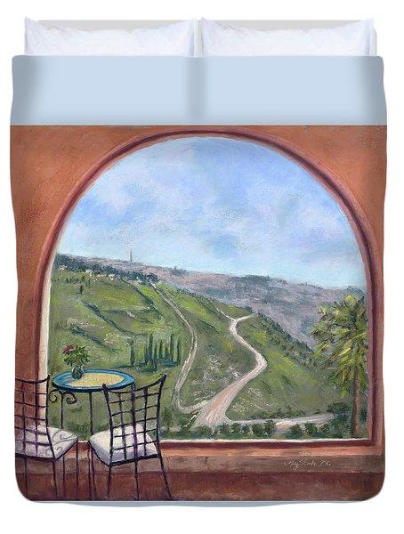 Window To Jerusalem Duvet Cover