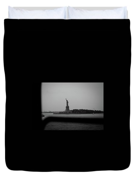 Duvet Cover featuring the photograph Window To Liberty by David Sutton