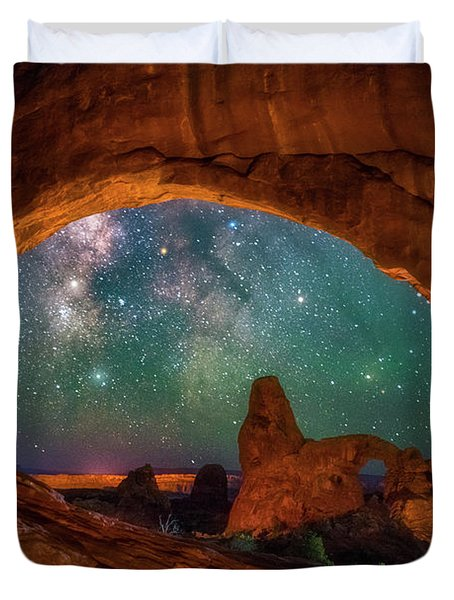Window To The Heavens Duvet Cover