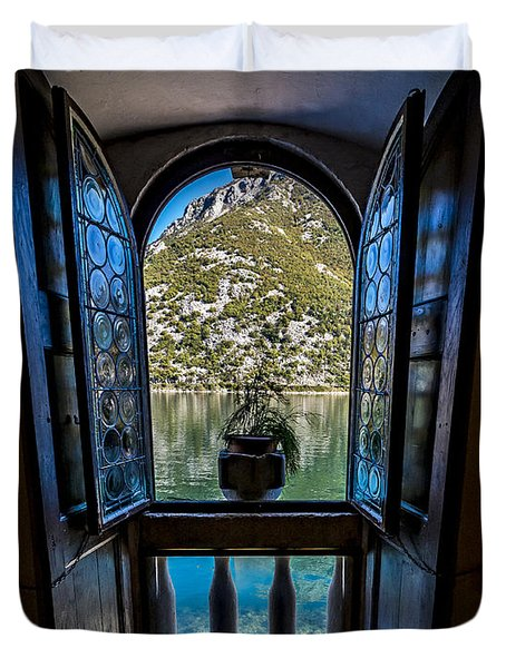Window To The Lake Duvet Cover