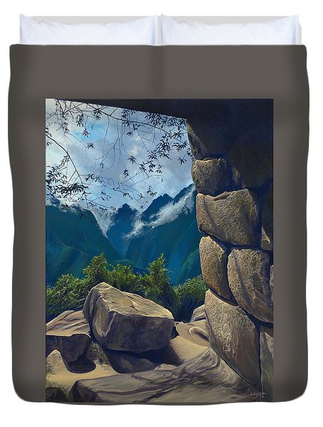 Window To The Past Duvet Cover