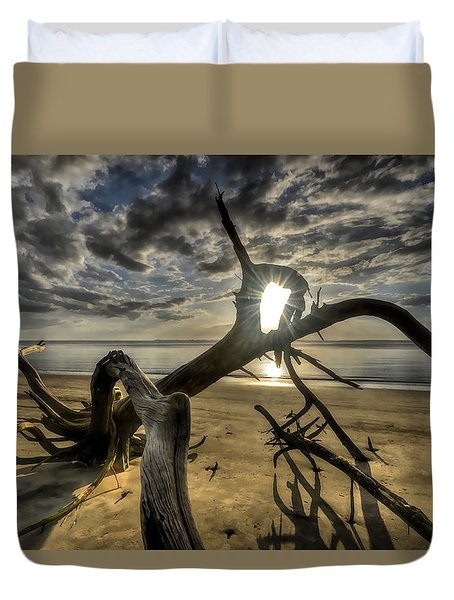 Window To The Sun Duvet Cover