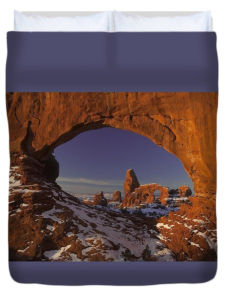 Window To Turret Duvet Cover