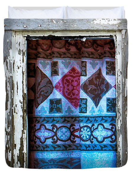 Window Toward The Sea Duvet Cover