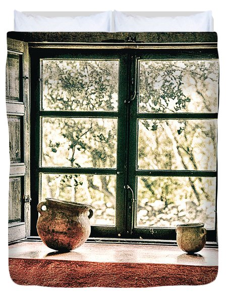 Window View Duvet Cover