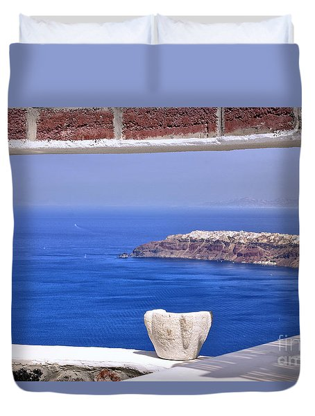 Window View To The Mediterranean Duvet Cover