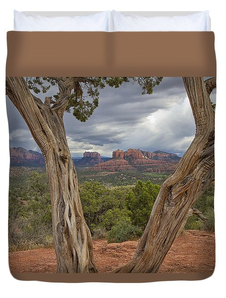 Window View Duvet Cover