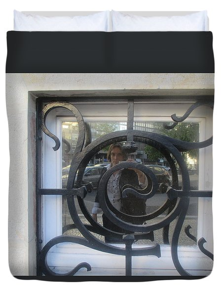 Window With Iron Detail Duvet Cover