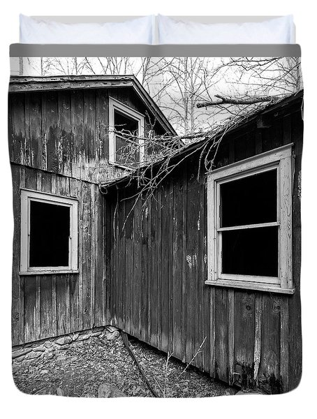 Duvet Cover featuring the photograph Windows 3 by Alan Raasch