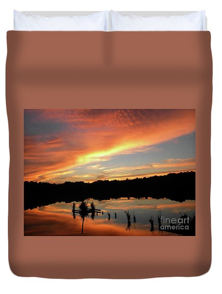 Windows From Heaven Sunset Duvet Cover