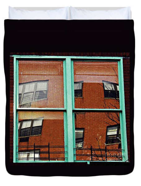 Windows In The Heights Duvet Cover by Sarah Loft