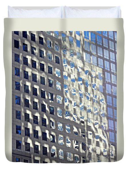 Duvet Cover featuring the photograph Windows Of 2 World Financial Center 2 by Sarah Loft