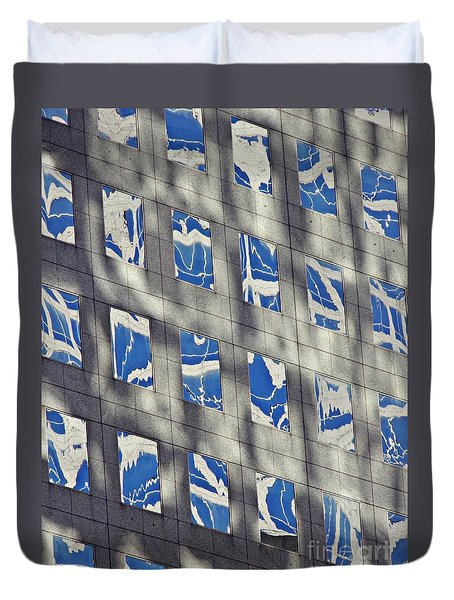 Duvet Cover featuring the photograph Windows Of 2 World Financial Center 3 by Sarah Loft