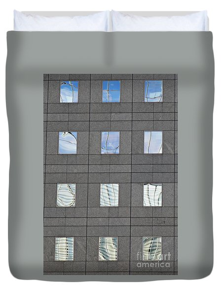 Duvet Cover featuring the photograph Windows Of 2 World Financial Center   by Sarah Loft
