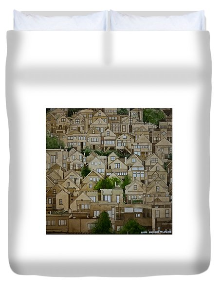 Windows Of Bernal Heights Duvet Cover