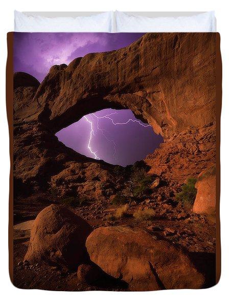 Windows Storm Duvet Cover by Darren White