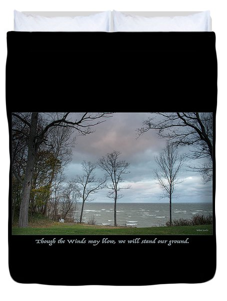 Winds May Blow Duvet Cover