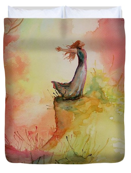 Winds Of Freedom Duvet Cover by Mona Davis