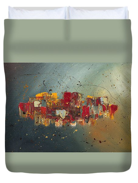 Duvet Cover featuring the painting Winds Of Prosperity by Carmen Guedez