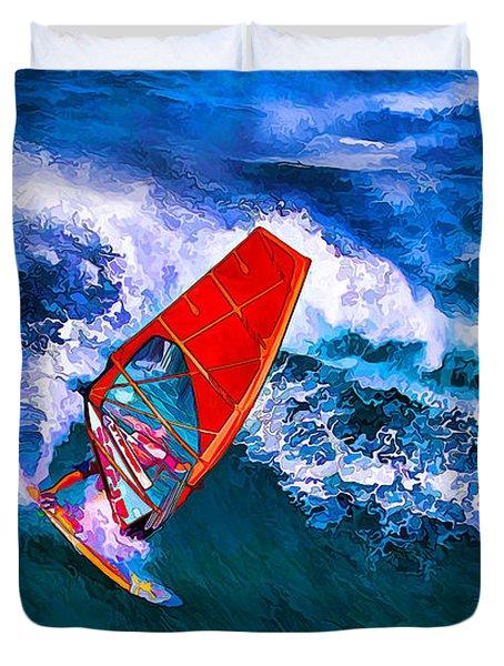 Windsurfer Joy Duvet Cover